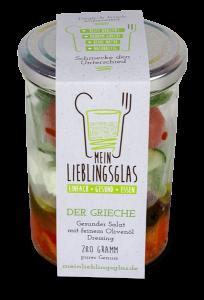 Der Grieche: Der gesunde Salat mit feinstem Olivenöl-Dressing - Mein Lieblingsglas von Das Obstkistl