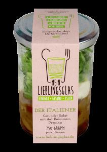 Der Italiener: Der gesunde Salat mit ital. Balsamico-Dressing - Mein Lieblingsglas von Das Obstkistl