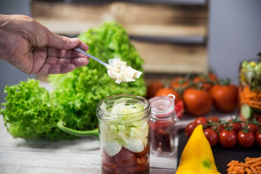 Die Abfüllung: Der Italiener - Mein Lieblingsglas - Der frische und hausgemachte Salat im Glas von Das Obstkistl