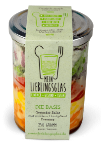 Die Basis: Der gesunde Salat mit mildem Honig-Senf-Dressing - Mein Lieblingsglas von Das Obstkistl