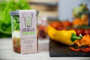 Der Italiener - Mein Lieblingsglas - Der frische und hausgemachte Salat im Glas von Das Obstkistl