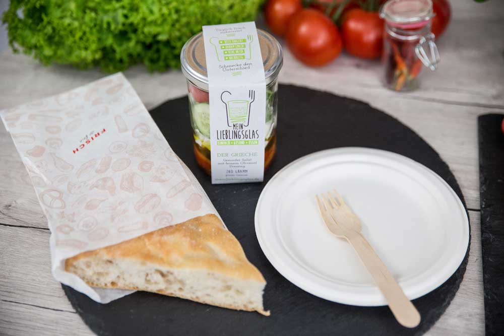 Der Grieche - Mein Lieblingsglas - Der frische und hausgemachte Salat im Glas von Das Obstkistl